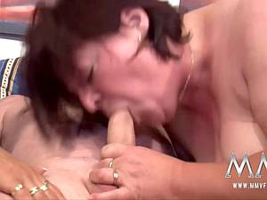 German matures gobbling down a dick