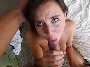 Stepsister Nora admires brother's cock