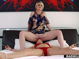 Teen busted by her pervy stepmom is taking the sloppy consequences