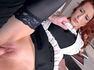 Sexy maid Isabella Lui gets surprise fuck by a thief