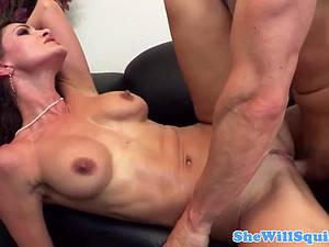 MILF fucked so good her pink pussy erupts